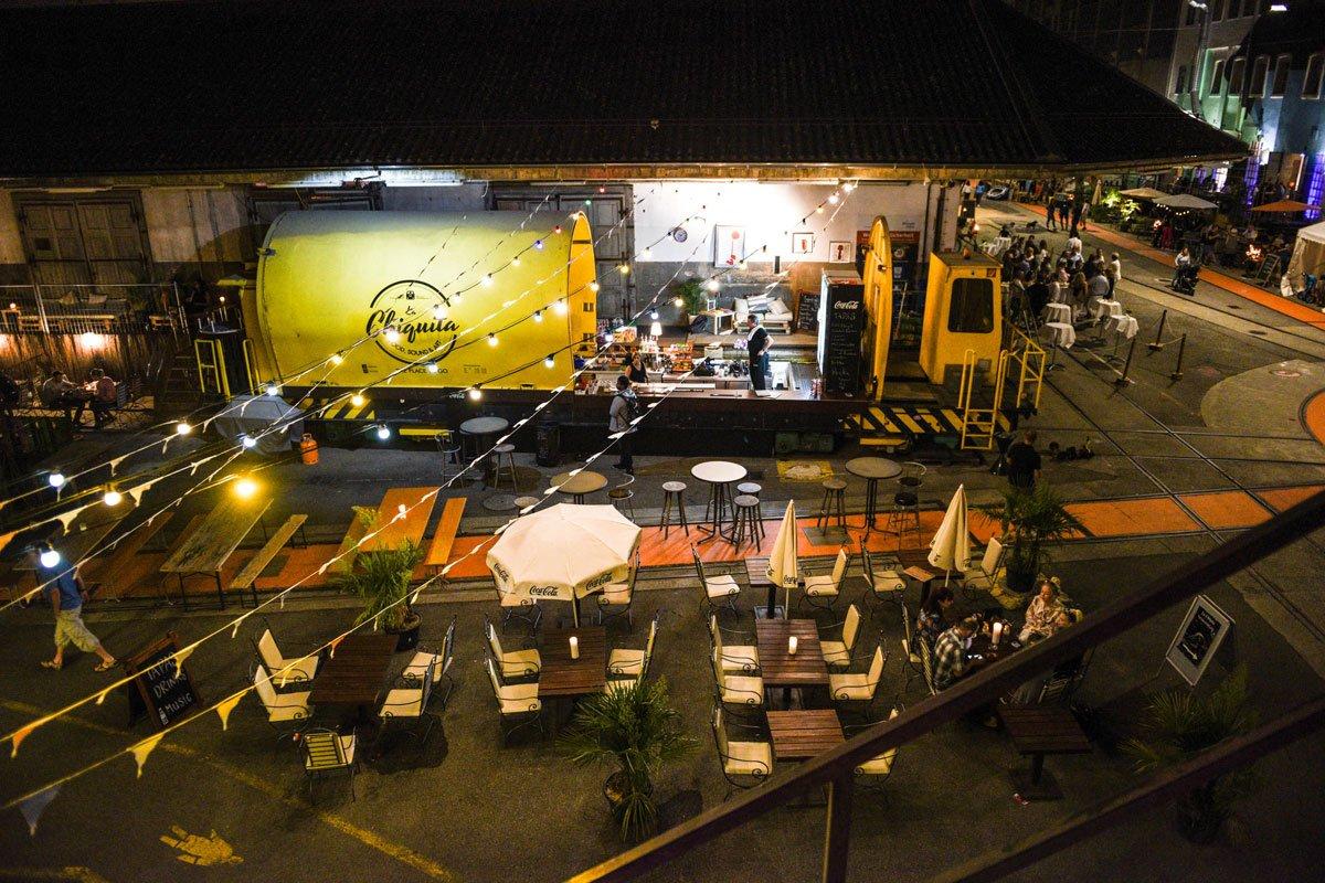 Chiquita Bar Attisholz Ausen von oben