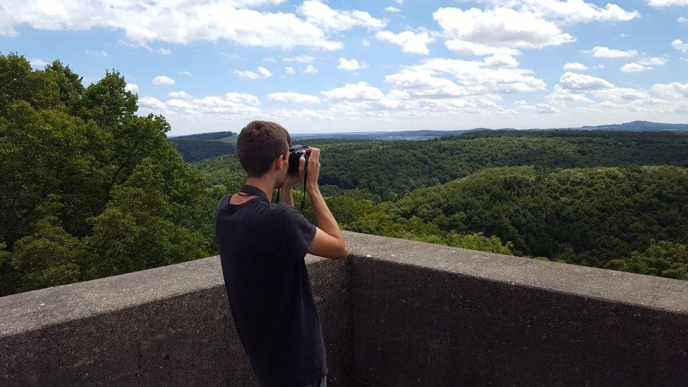 Aussicht Burgfelsenpfad