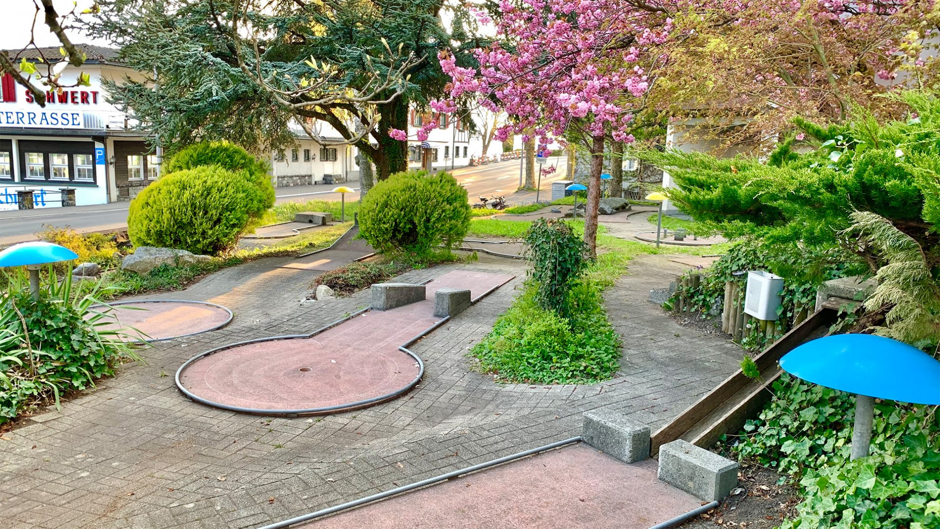 Die idyllische Minigolfanlage in Gersau
