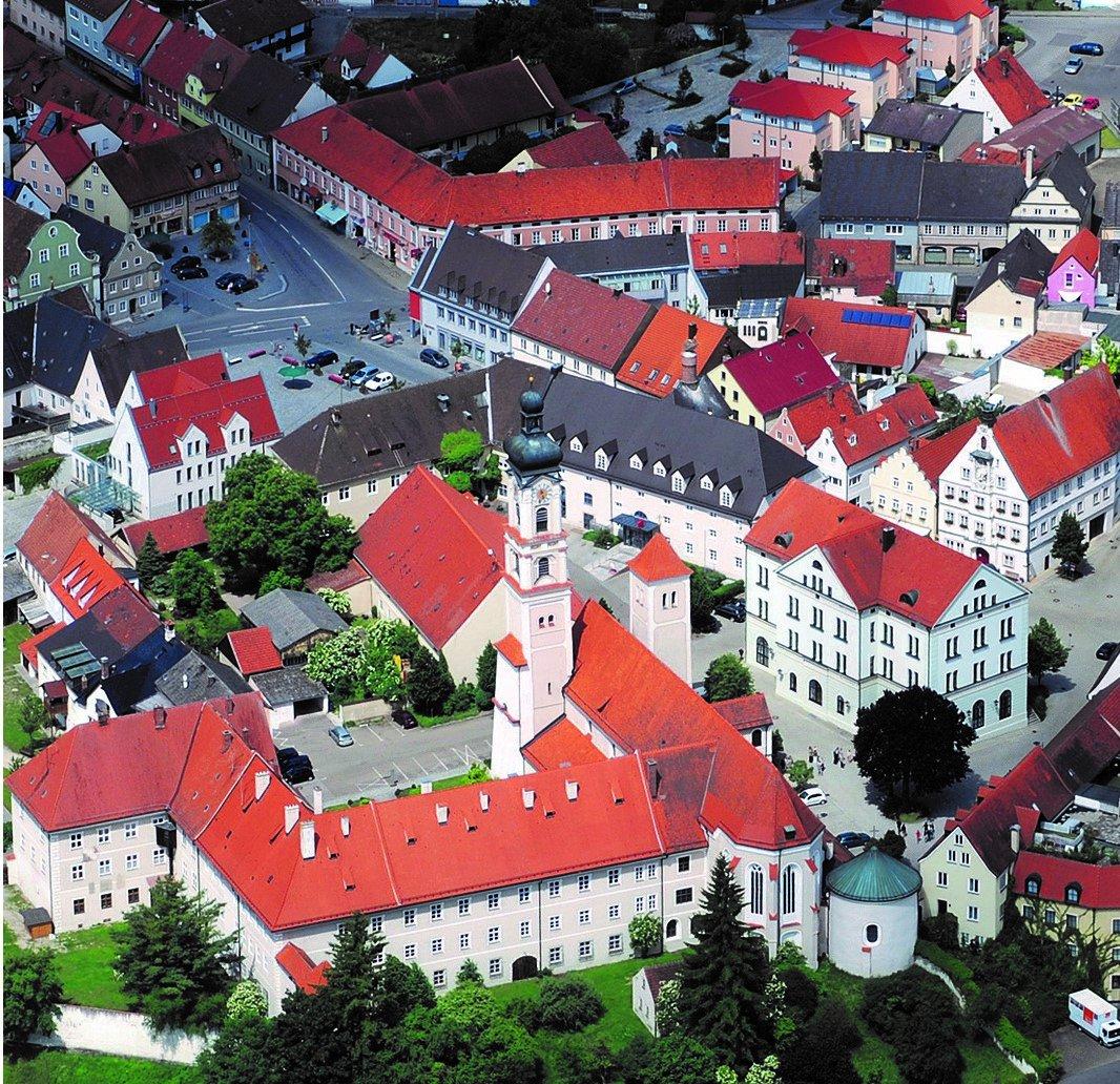 Blick auf die Stadt Geisenfeld