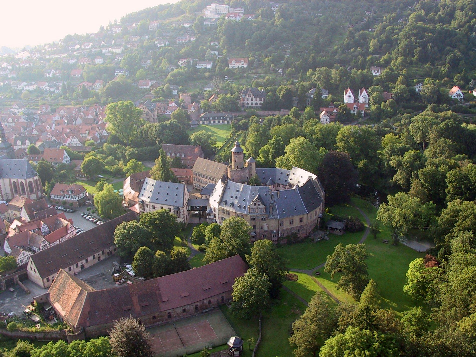 Schloss Büdingen von oben
