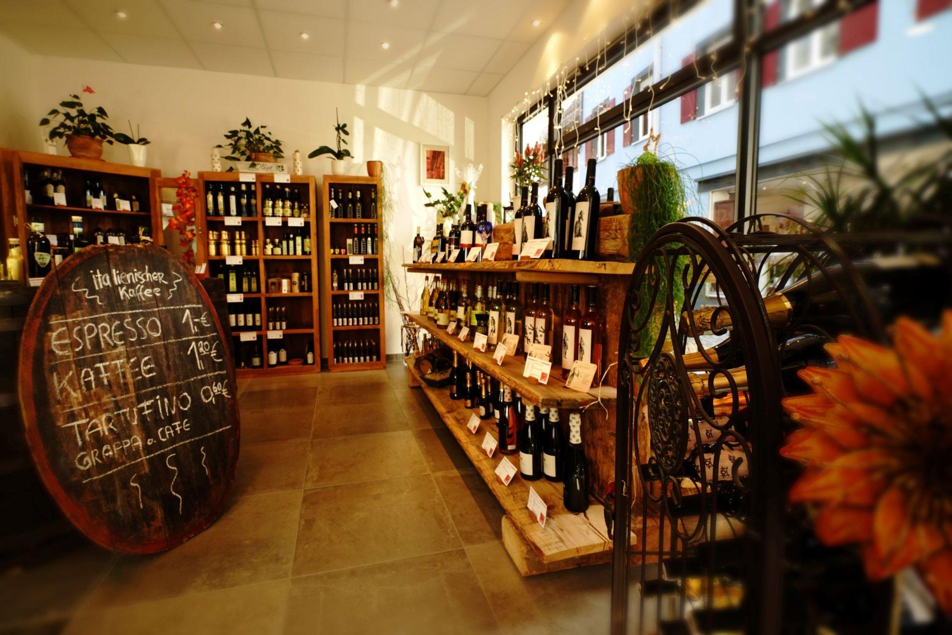 Öle, Suppen, Weine und andere haltbare Lebensmittel bei Il Cesto in Wolfach