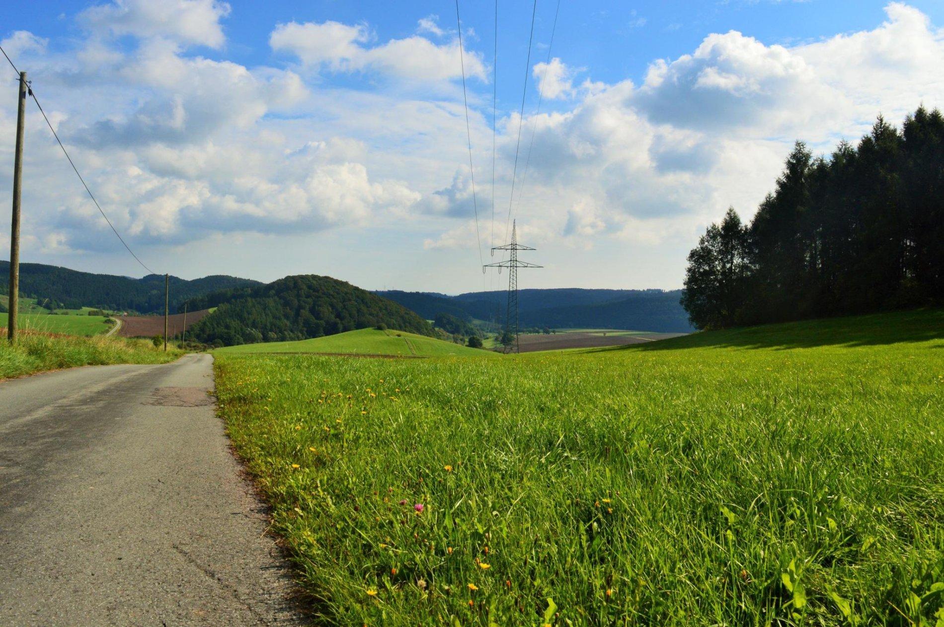 sanfte Hügel im Hochsauerland