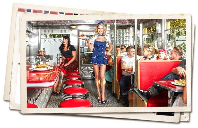 Amerikanischer Flair im American Diner Durlach