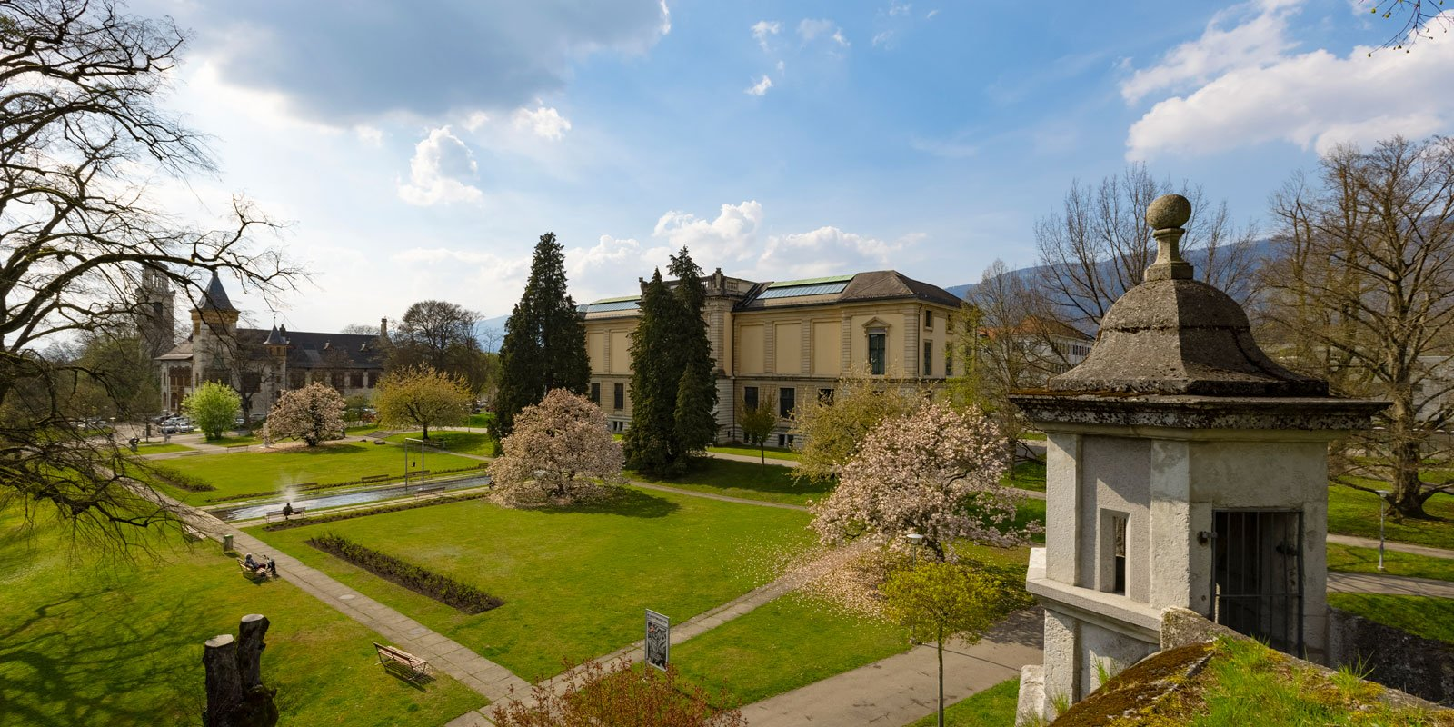 Riedholzschanze Aussicht Kunstmuseum Konzertsaal Solothurn Fruehling