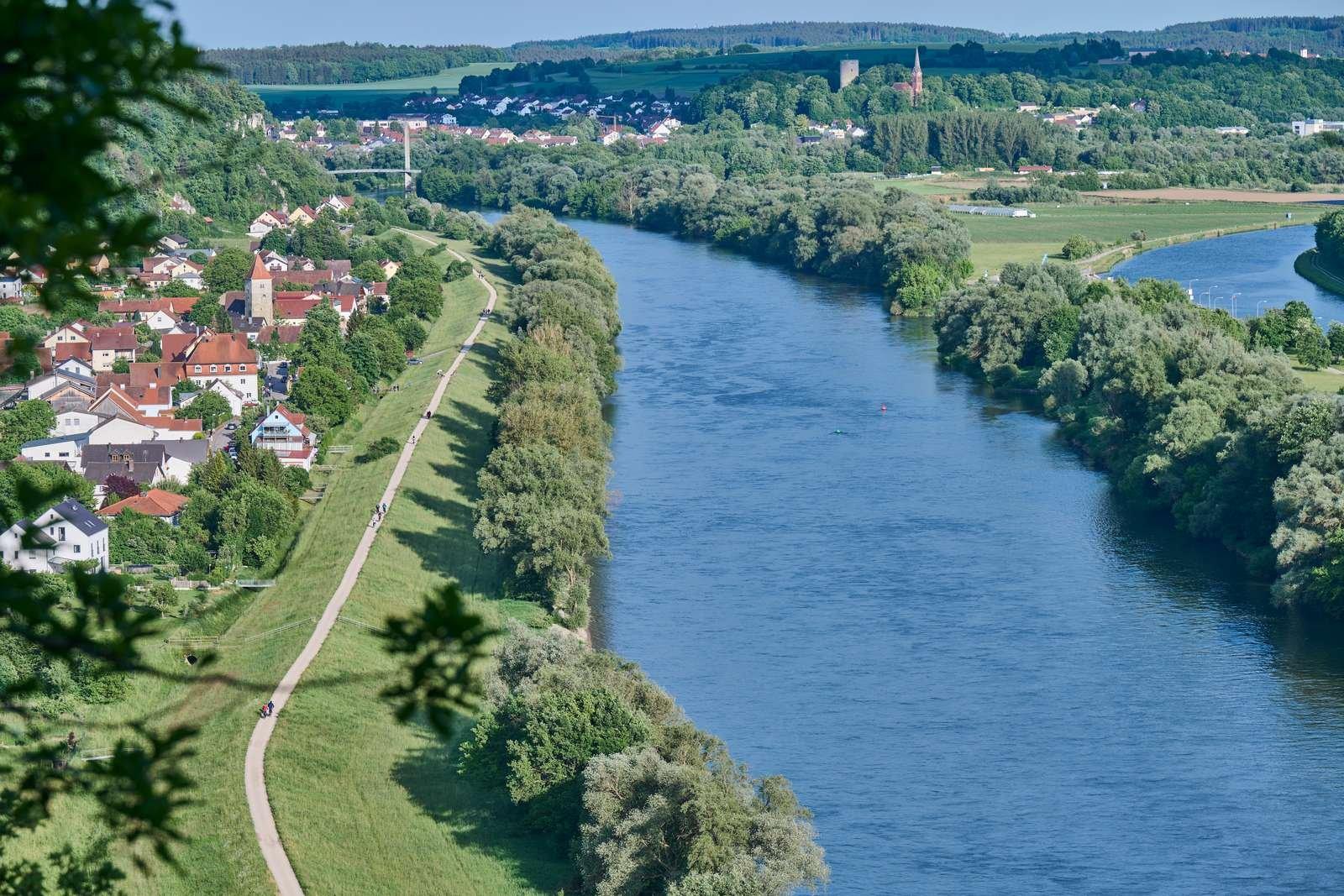 Badespaß bei der Flussbadestelle in Matting