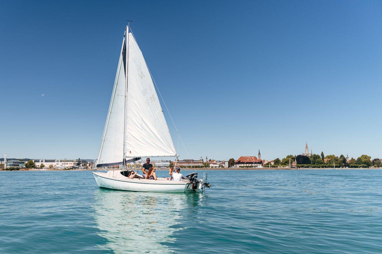Segeln auf dem Bodensee bei Konstanz