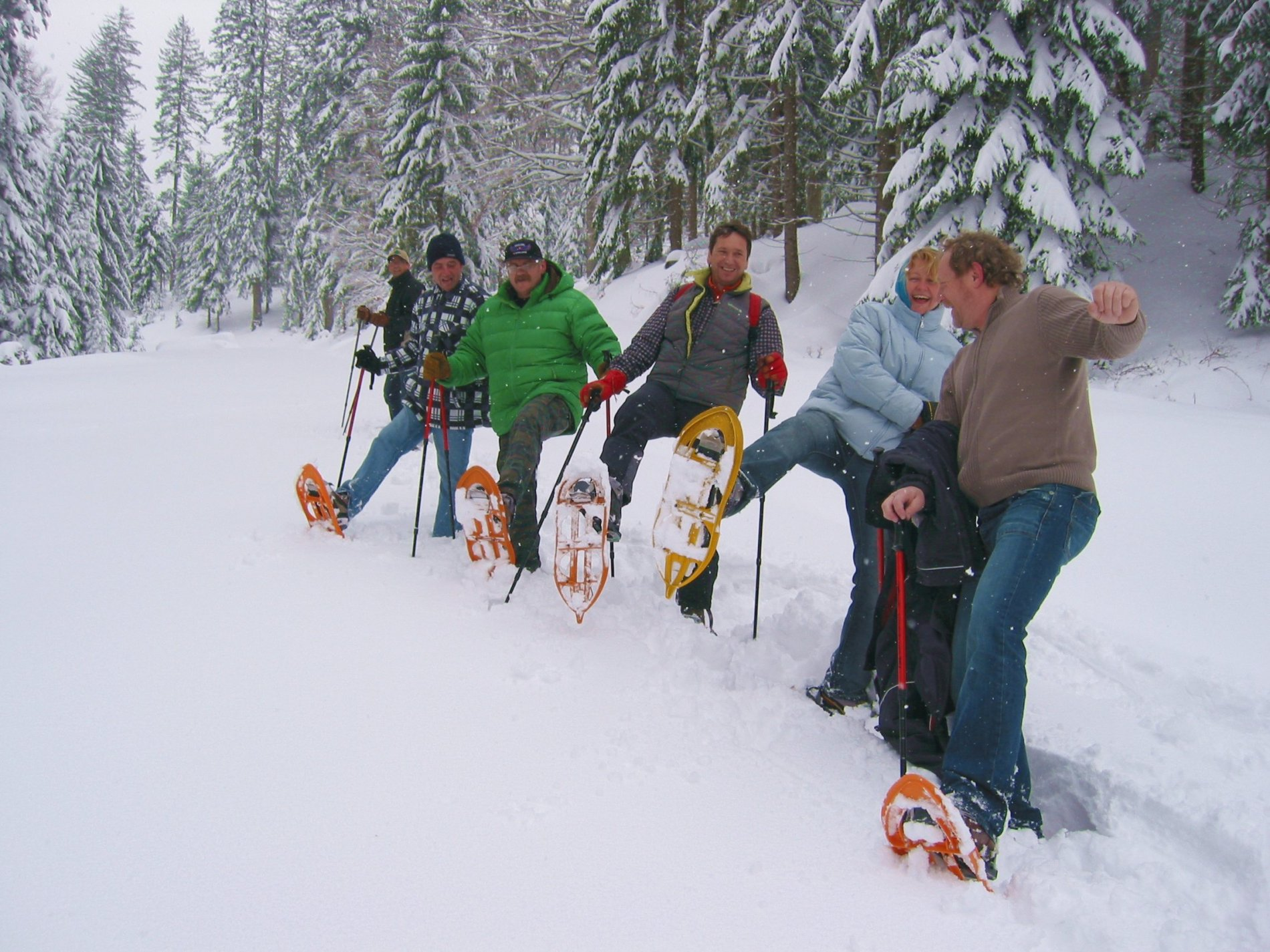 Schneeschuhtouren durch das verschneite Albtal.