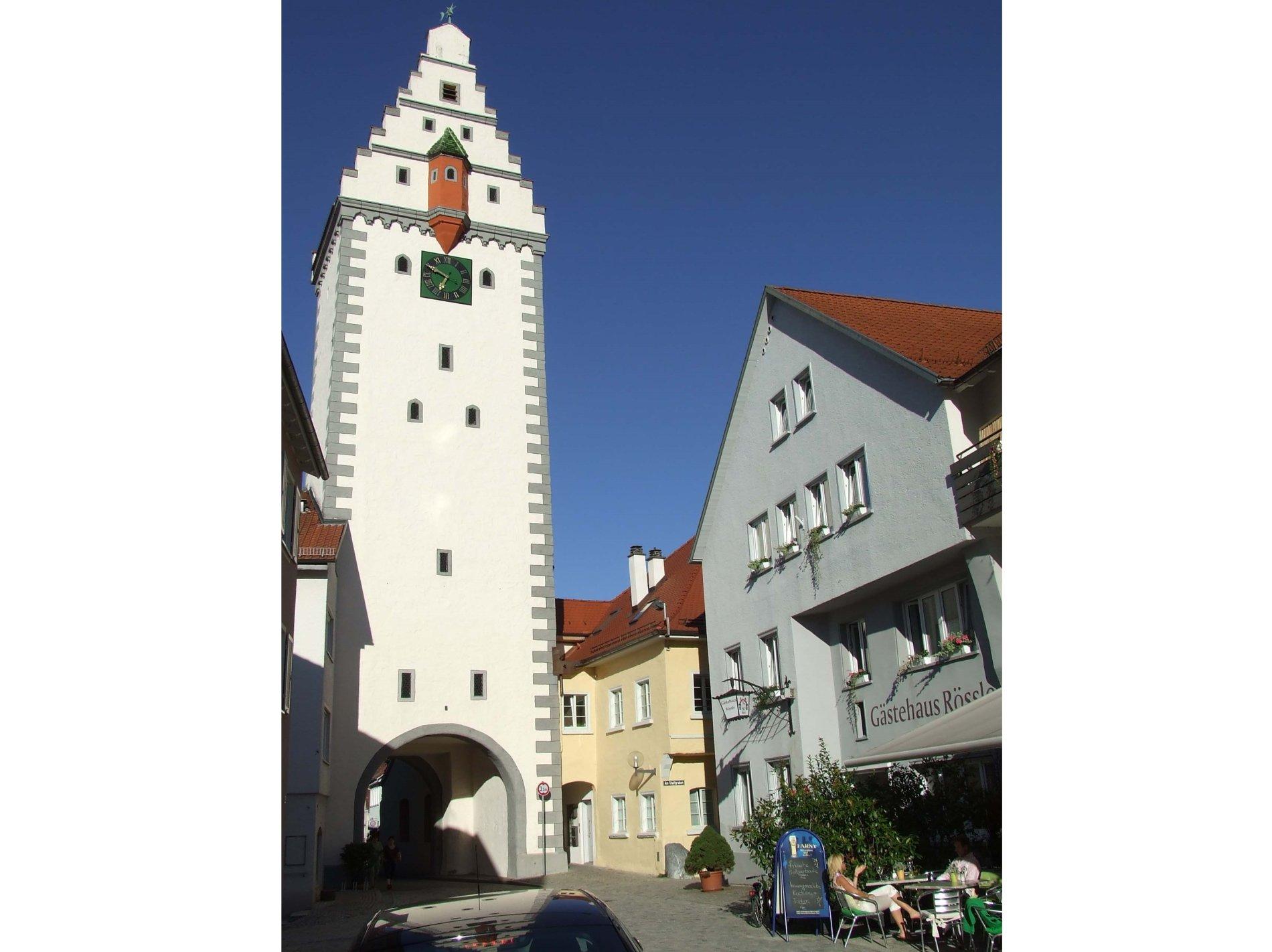 Eingangsseite des Gästehaus neben dem Wurzacher Tor
