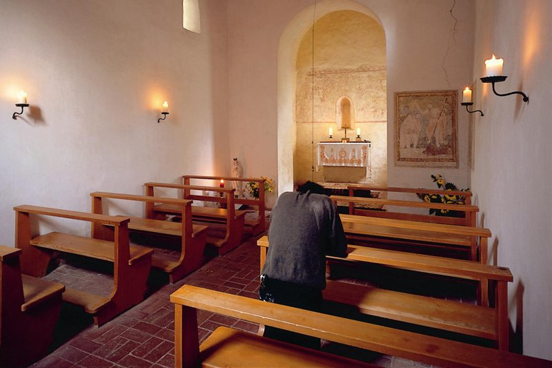 Wandmalerei über dem Altar