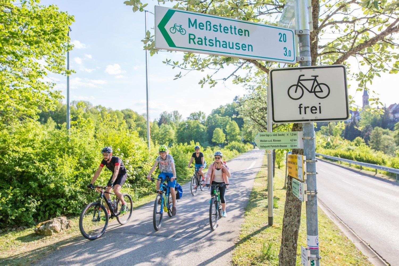 Fahrradfahrer in Schömberg