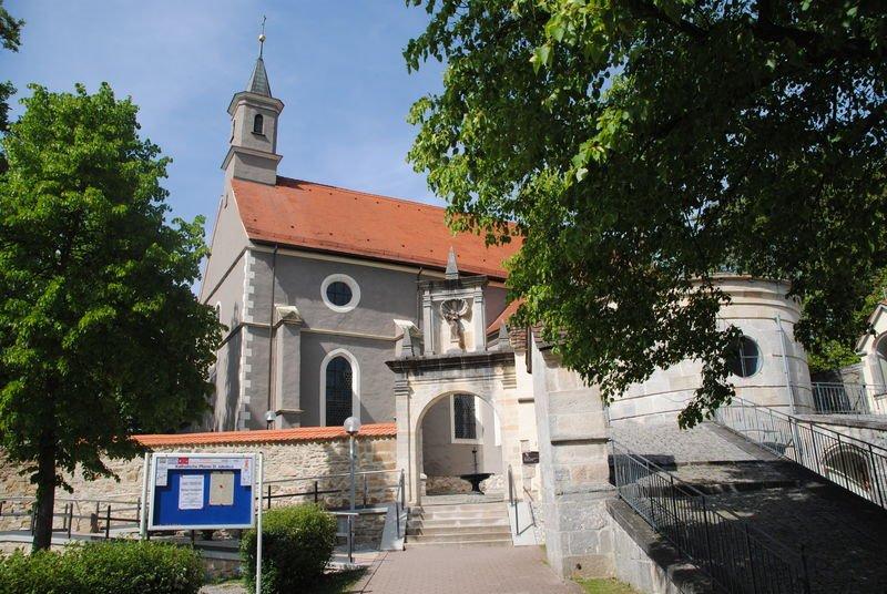 Eingang zum Klosterareal vom Parkplatz