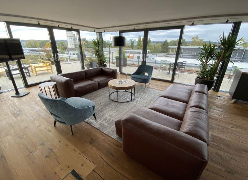Blick auf das Innovation Center Konstanz