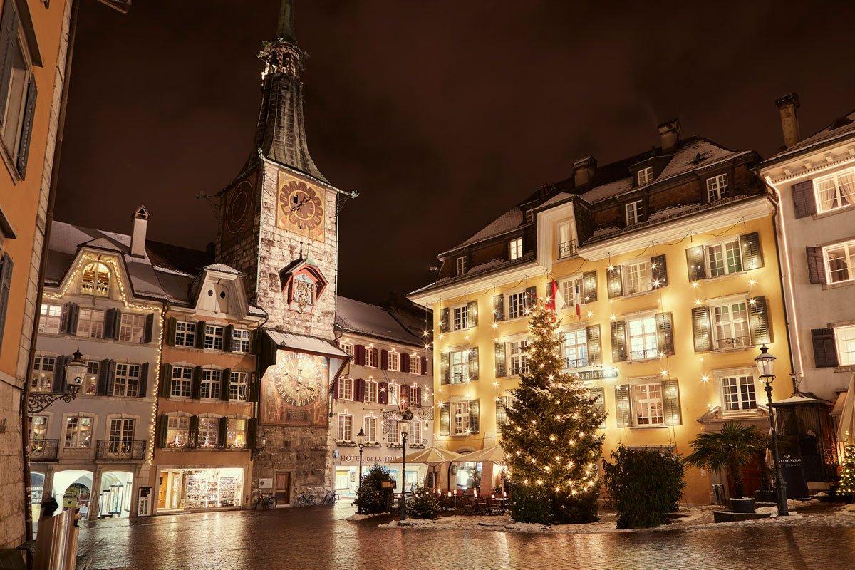 Weihnachten Marktplatz Solothurn