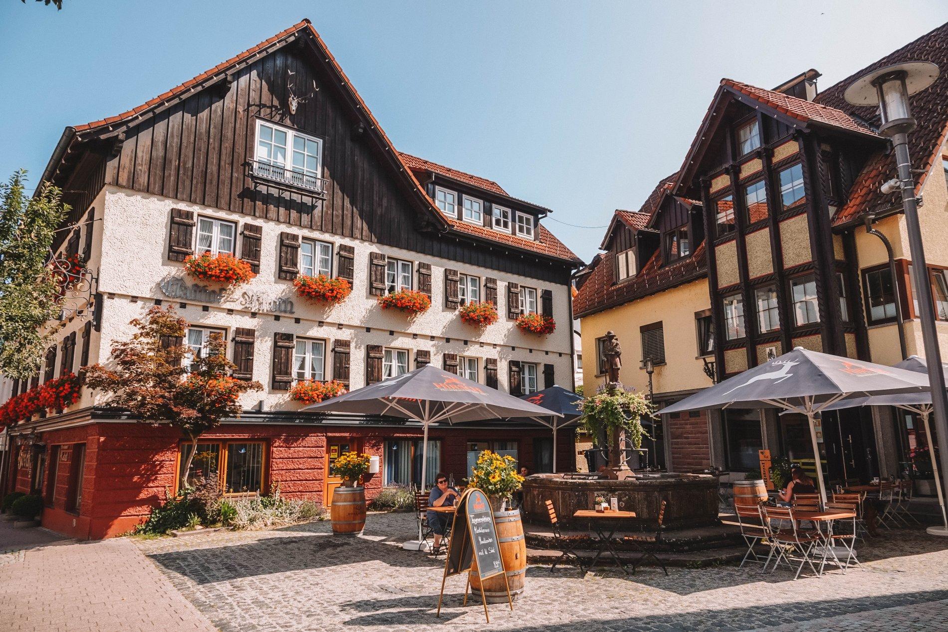 Terrasse des Café Hirschbrunnen