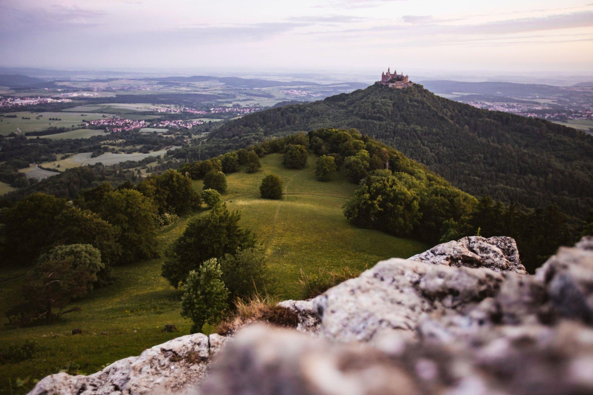Was für eine märchenhafte Aussicht! Die Burg Hohenzollern!