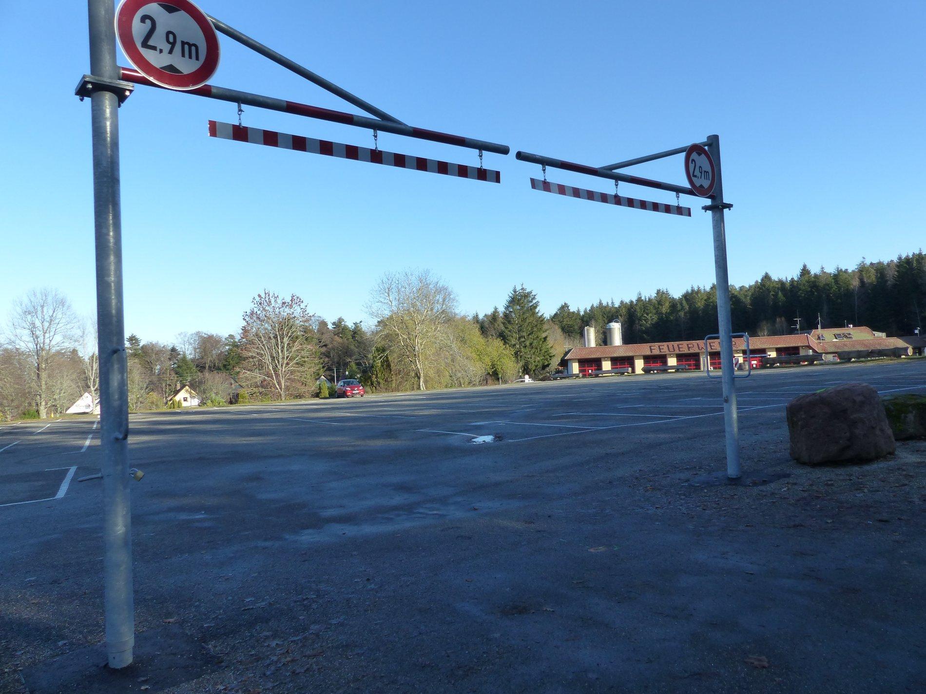Parkplatz Kurhaus Schömberg,