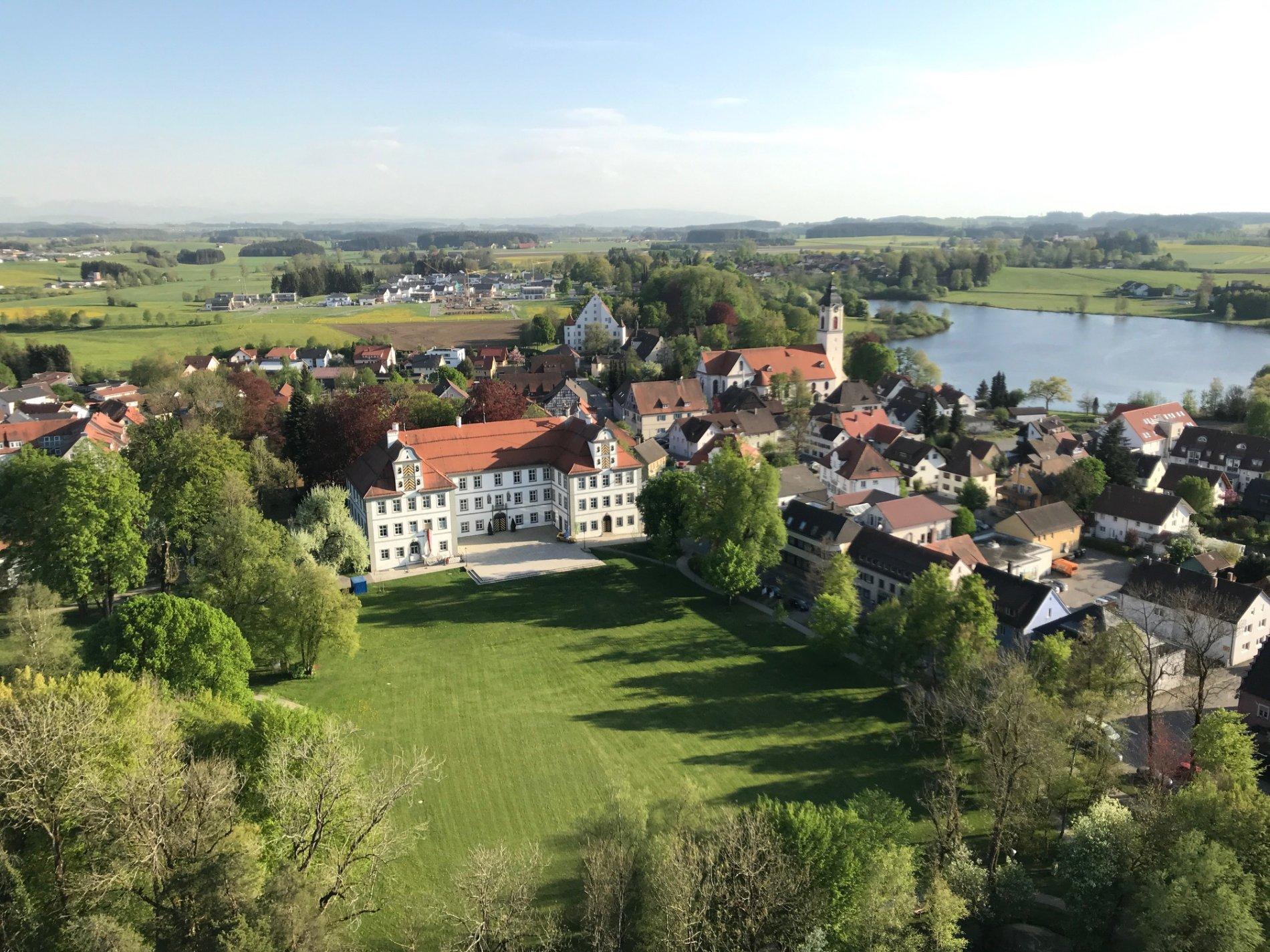 Blick von oben über Kißlegg