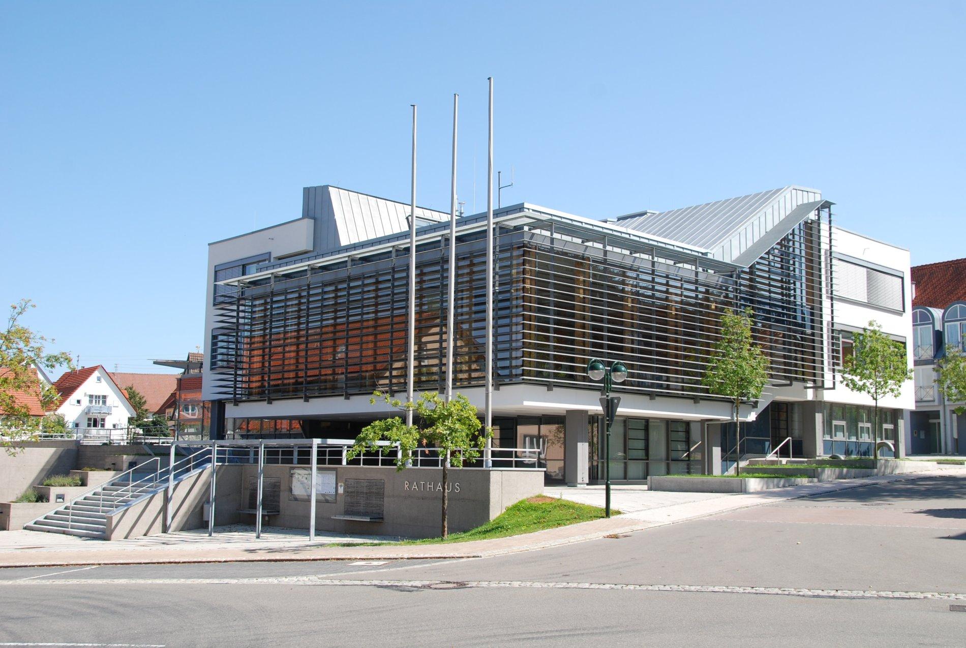 modernes Rathaus in Meßstetten