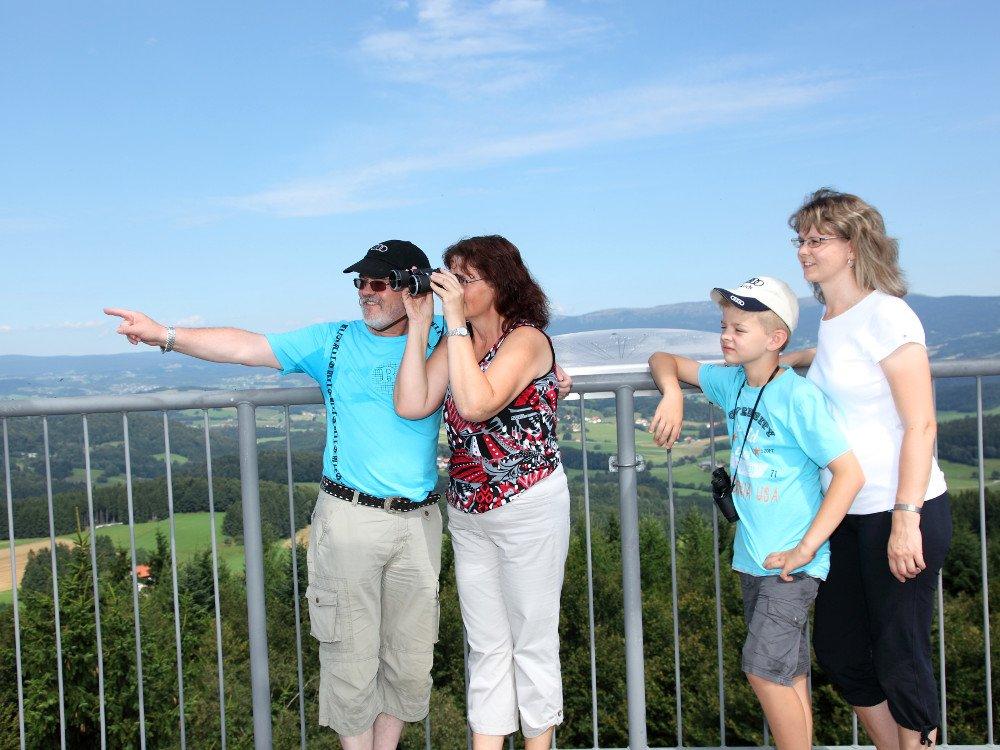 Herrlicher Ausblick vom Aussichtsturm auf dem Friedrichsberg bei Wegscheid