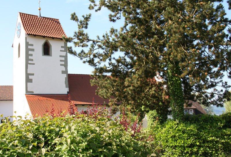 Aussenaufnahme Kirche St. Agatha in Hemmenhofen