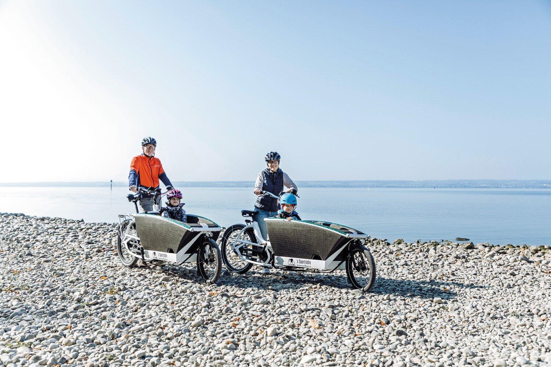 Fahrradtour mit Lastenrad und Kindern
