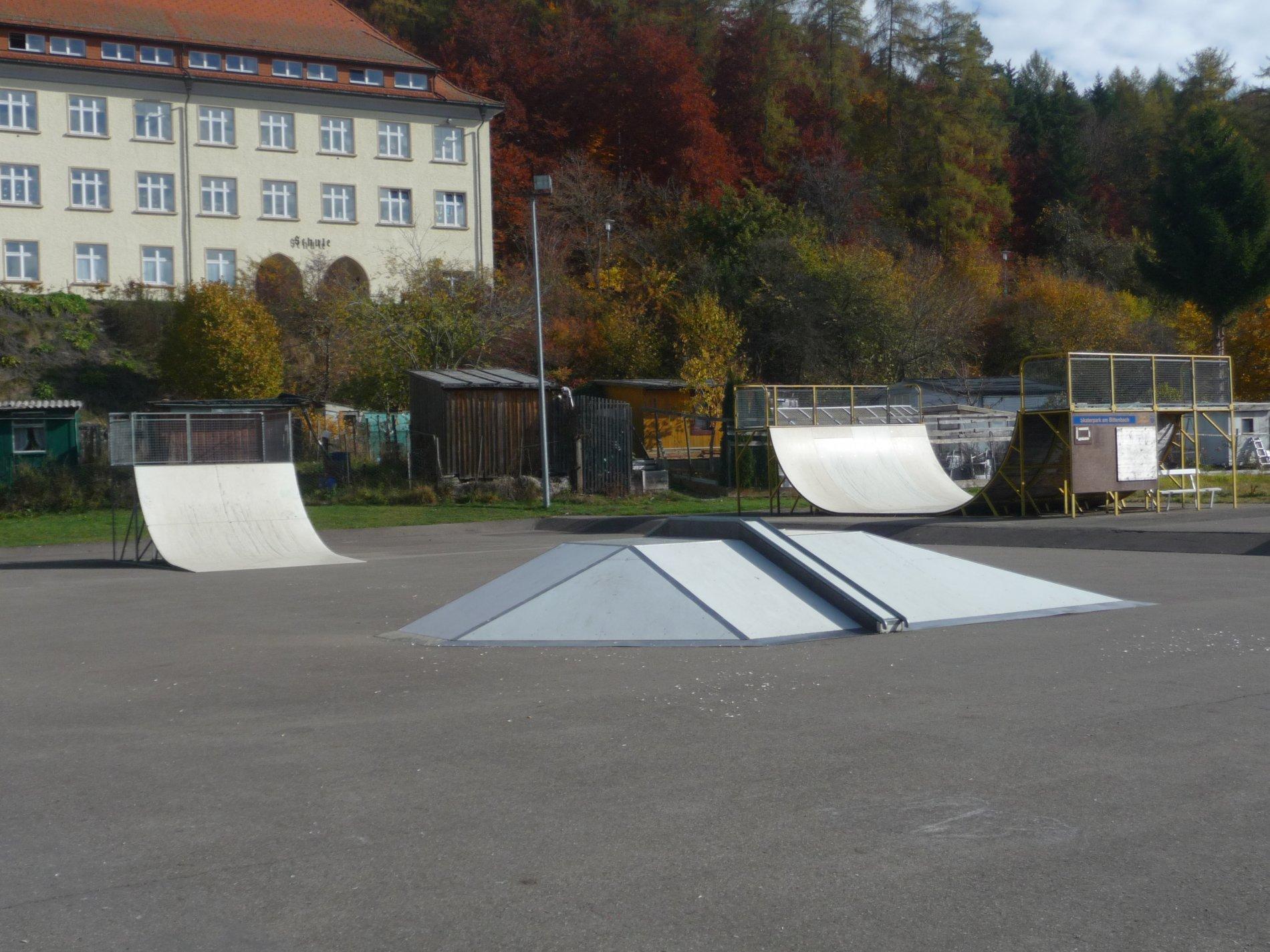 weitläufiger Skaterpark