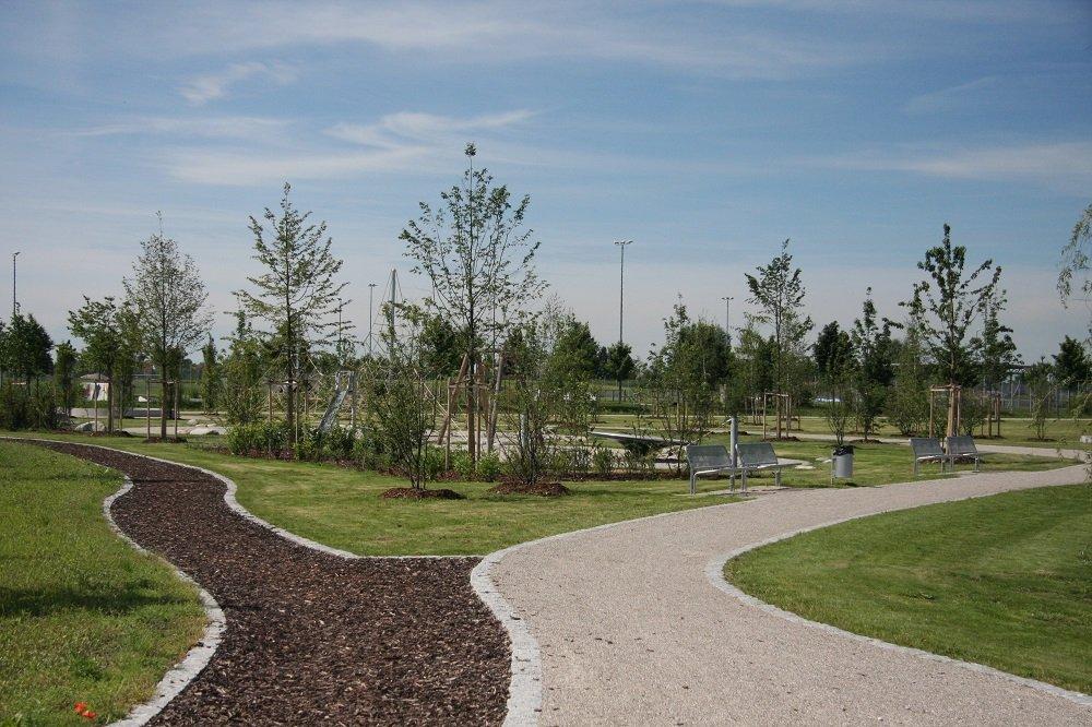 Spazierwege im Sportpark Hallbergmoos