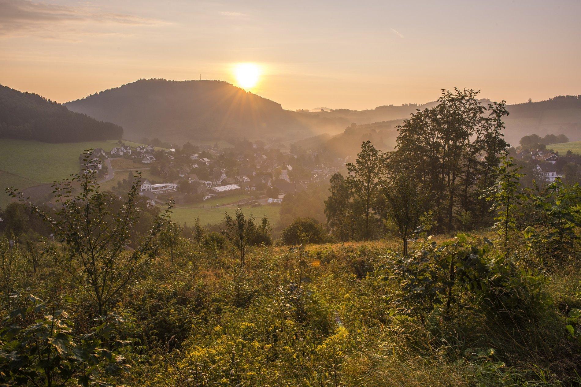 Blick auf das Bundesgolddorf Oberkirchen