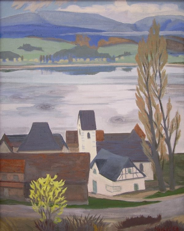 Dorf am See von Erich Heckel
