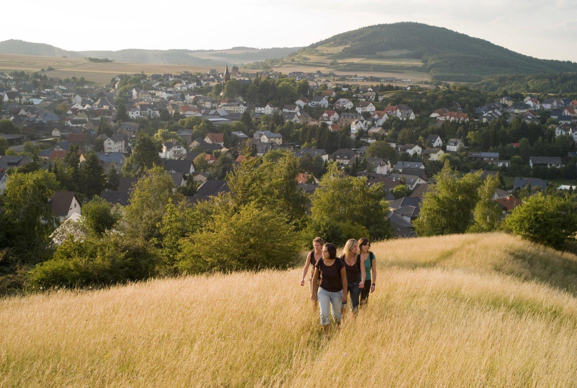 Blick auf Ettringen, Vulkanpfad