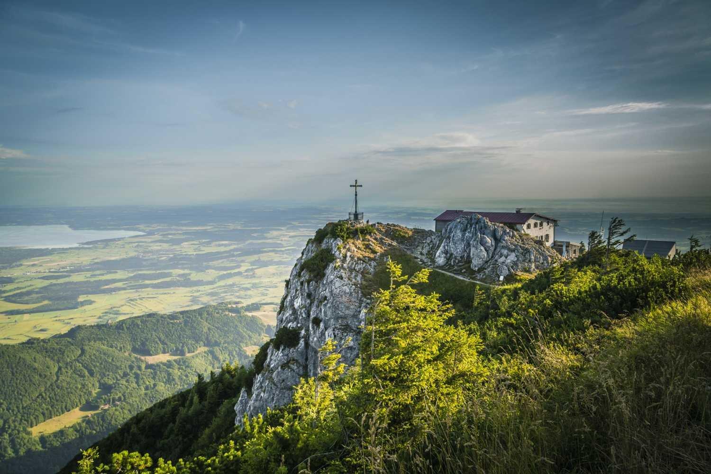 Panoramablick vom Hochfelln Gipfel