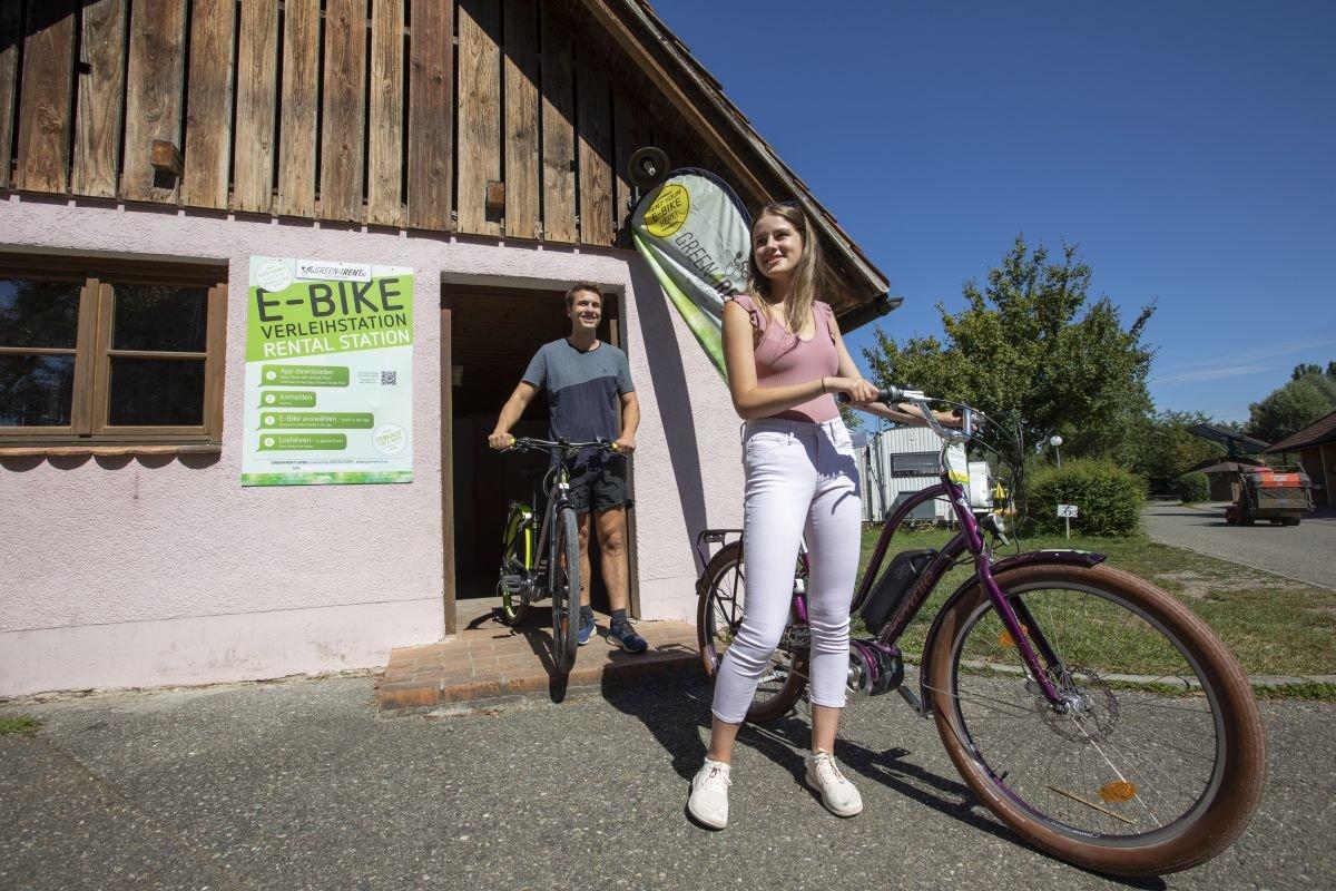 Fahrradverleih auf dem Campingplatz Horn