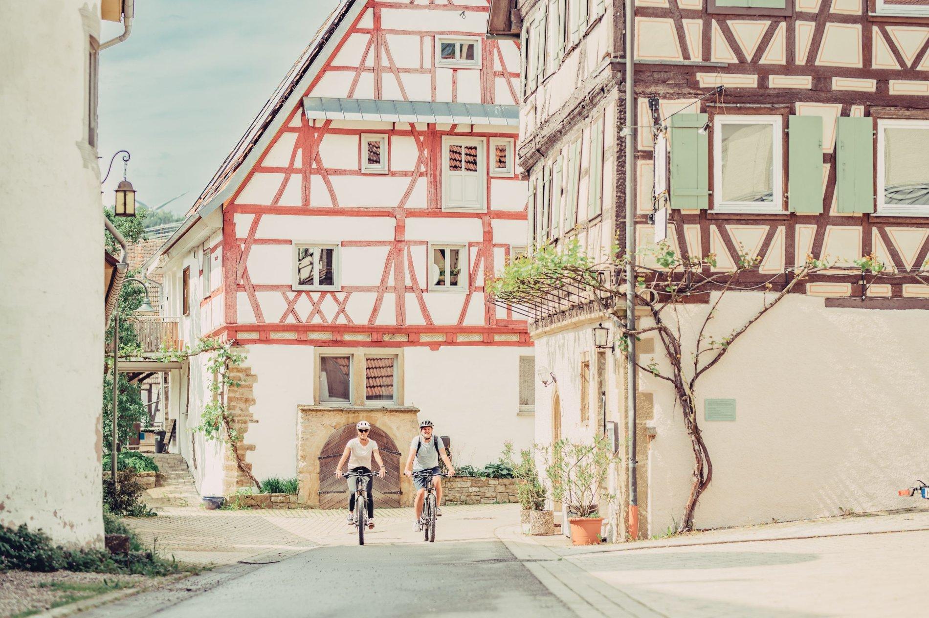 Etappe 1 - Radfahrer auf dem Kocher-Jagst-Radweg | HeilbronnerLand
