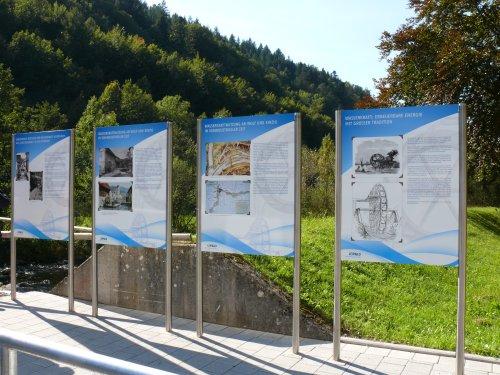 Wasserkraftlehrpfad - Informationstafeln