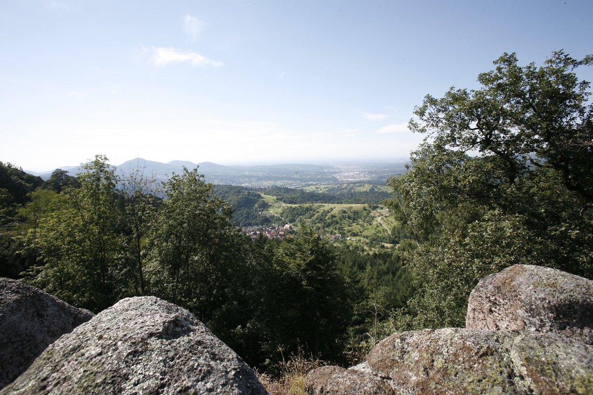 Blick vom Lautenfelsen bei Gernsbach