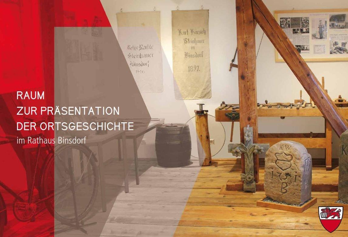 Innenraum mit Exponaten Museum Binsdorf