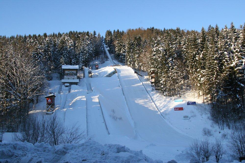 Skisprungschanzen-Anlage in Rastbüchl bei Breitenberg