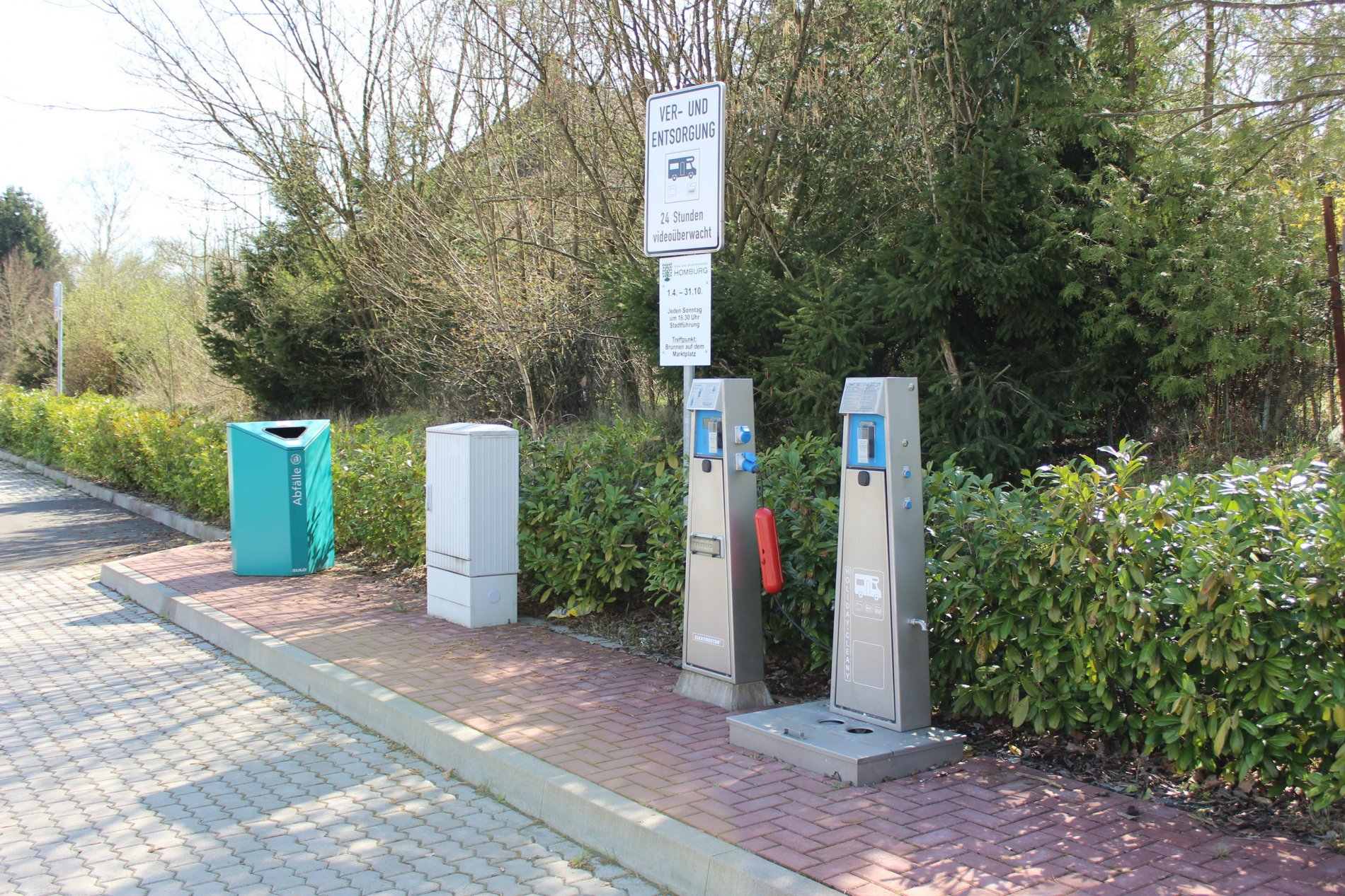 Entsorgungsstation des Wohnmobilstellplatzes am KOI in Homburg