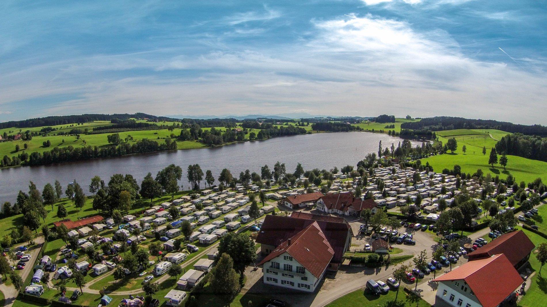 Der Campingplatz am Badsee bei Isny-Beuren