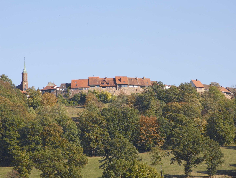 Blick auf das historische Örtchen Dilsberg