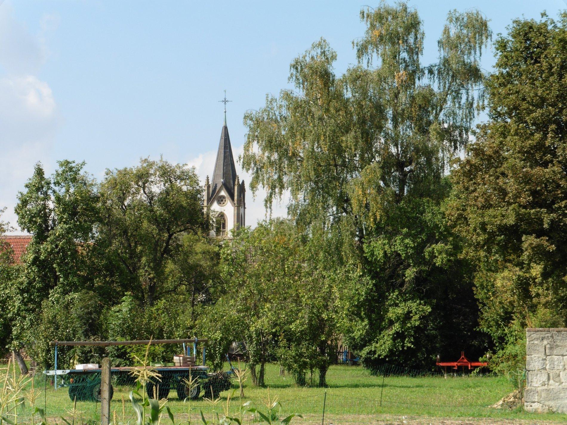 Blick auf die Kirche in Brittheim