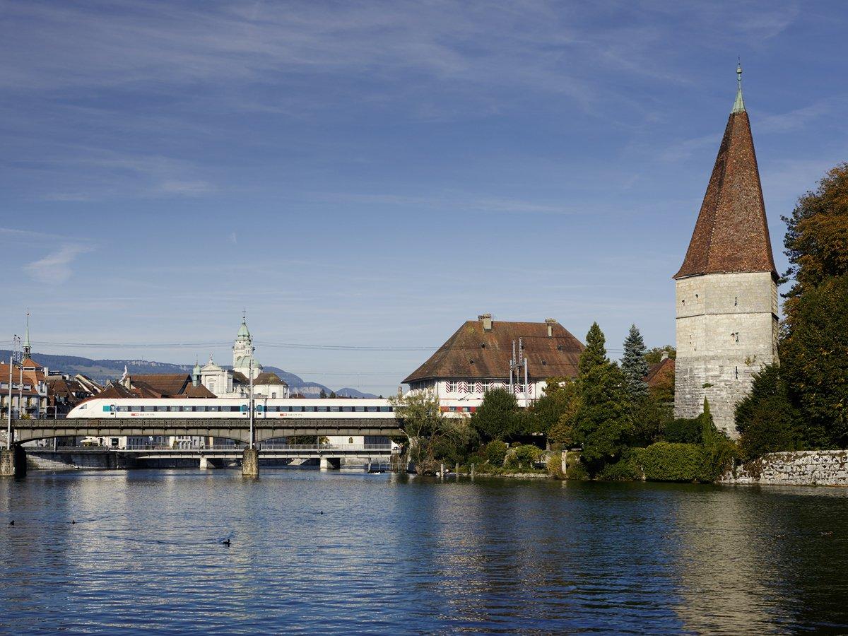 Krummturm Eisenbahnbrücke Solothurn
