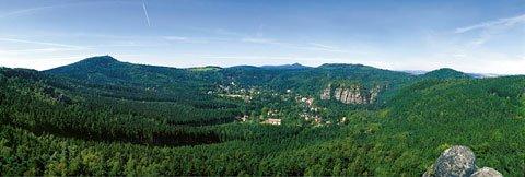 Ausblick Oberlausitzer Bergweg