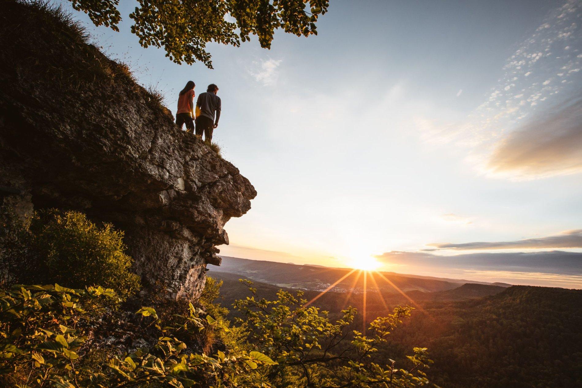 Sonnenaufgang am Aussichtspunkt Hangender Stein