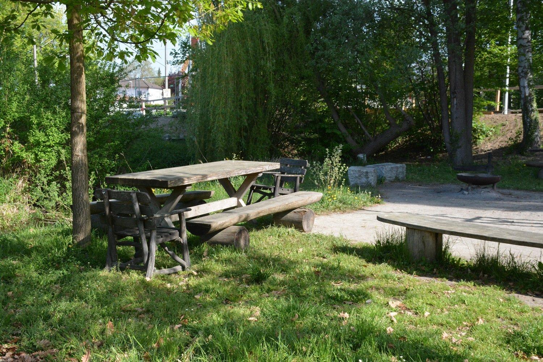 Grillplatz am Campingplatz Markelfingen