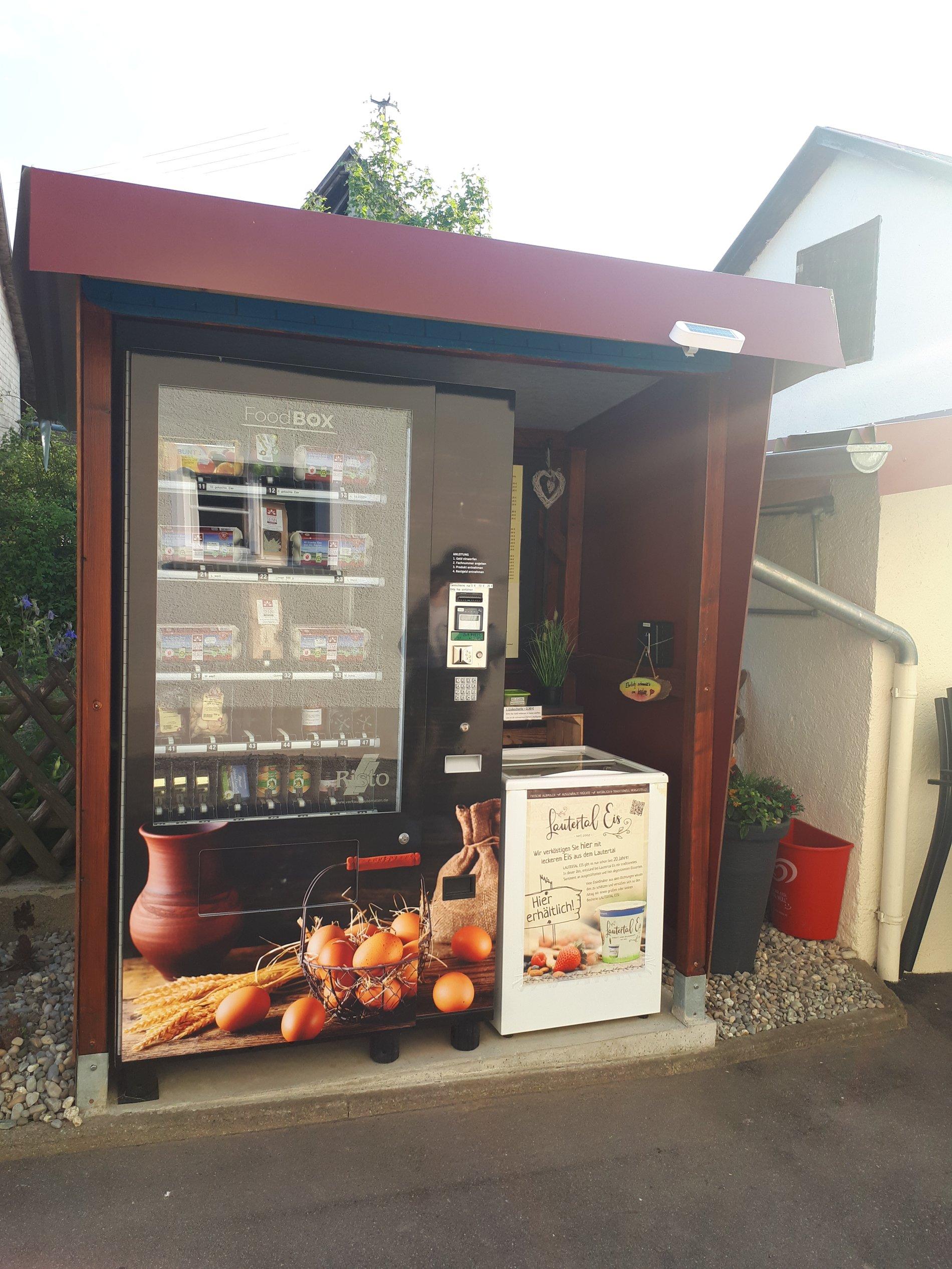24h Kühlautomat und Eistruhe bei Senn's Hoflädele