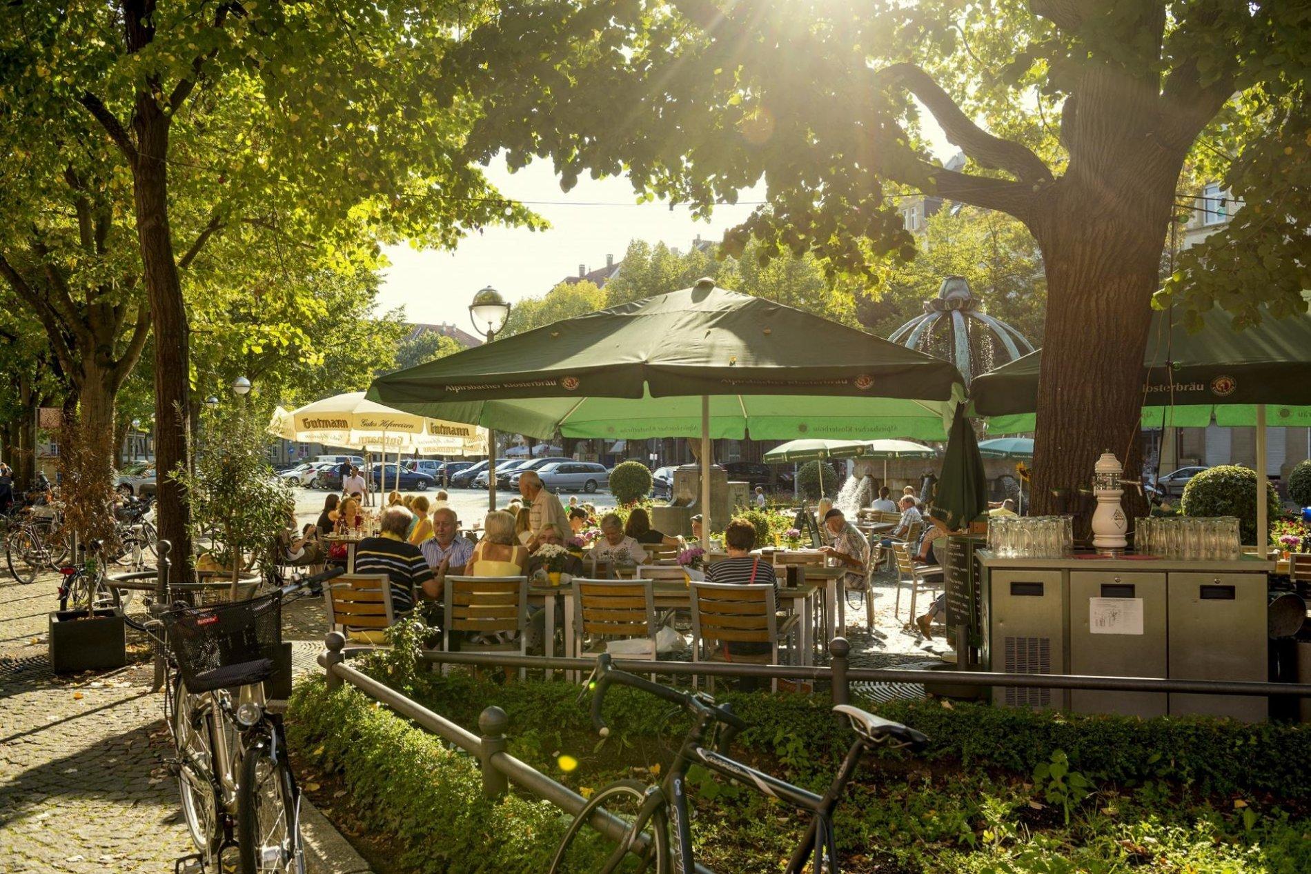 Gutenbergplatz von oben