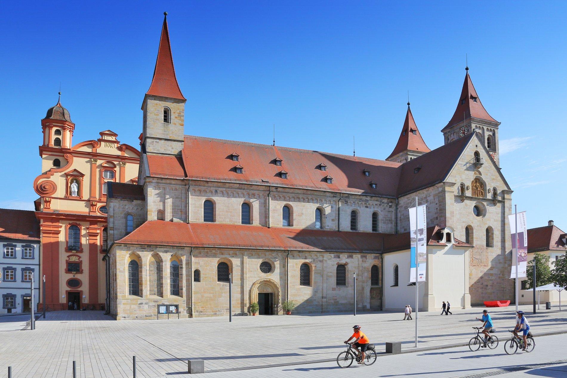 Basilika mit ev. Kirche in Ellwangen