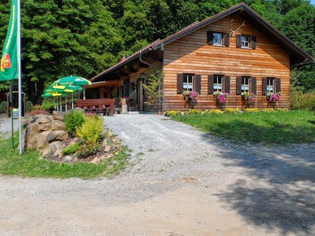 Die Berghütte Haidstein bei Chamerau im Naturpark Oberer Bayerischer Wald
